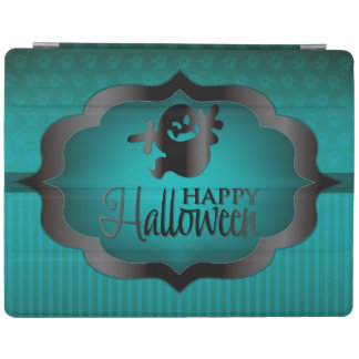 Halloween teal ghost iPad cover