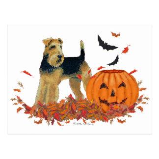Halloween Terrier Postcard