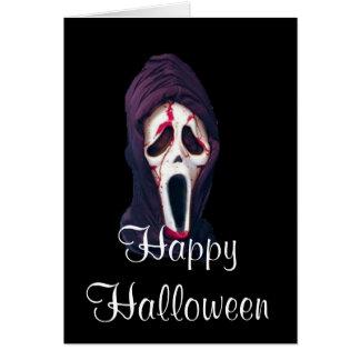 Halloween the scream scary card