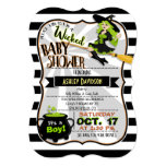 Halloween Theme Witch Baby Shower Invitation