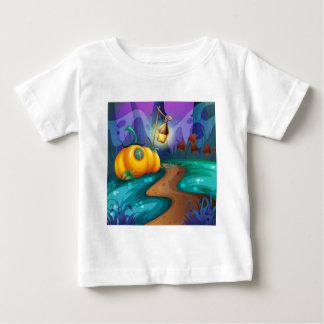 Halloween theme with pumpkin in the field baby T-Shirt