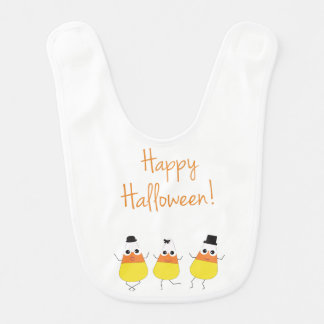 Halloween Themed Bib with Dancing Candy Corn