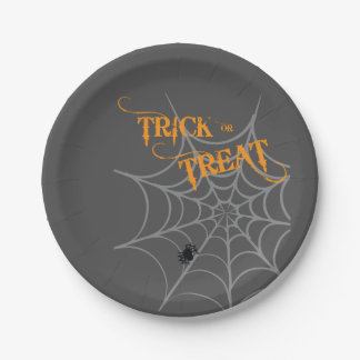 Halloween Themed Plates | Trick or Treat 7 Inch Paper Plate