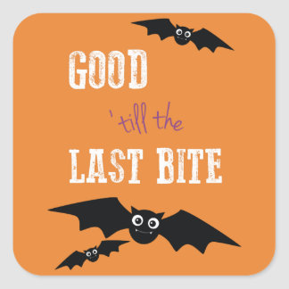 Halloween Themed Stickers with Bats