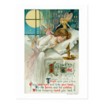 Halloween Time Fairies Around Sleeping Woman Postcards