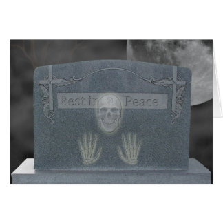 Halloween Tomb Stone Cards Greeting Card