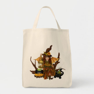 """Halloween Tote Bag with Woodland Fairy"""