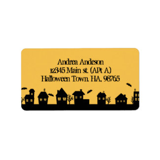 Halloween town address label