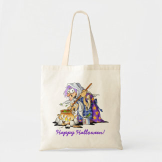 Halloween Treat Bags With Purple Witch