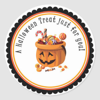 Halloween Treat Just For You Gift Tag Sticker