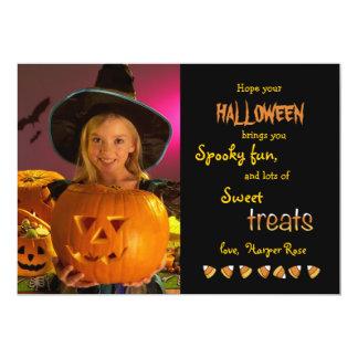 Halloween Treats Photo Card 13 Cm X 18 Cm Invitation Card