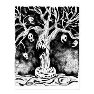 Halloween-Tree Postcard