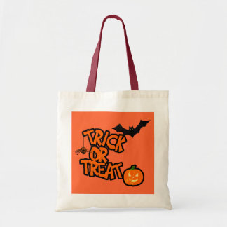 Halloween Trick Or Treat Canvas Bag