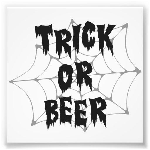 Halloween Trick Or Treat Beer Photo