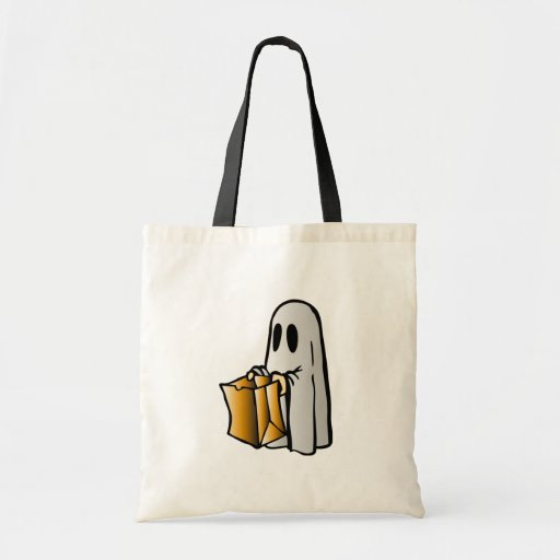 Halloween Trick or Treat Candy Ghost Tote Bag