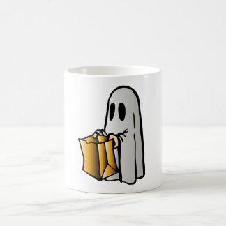 Halloween Trick or Treat Candy Ghost Coffee Mug