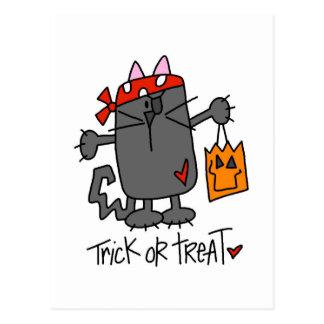 Halloween Trick Or Treat Cat Postcards