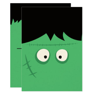 Halloween Trick or Treat Cute Frankenstein Monster Card