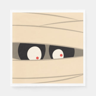 Halloween Trick or Treat Cute Mummy Squiggly Eyes Disposable Serviette