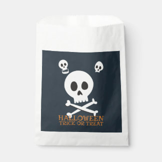 Halloween Trick or Treat Cute Skulls. Favour Bag