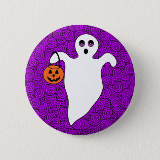Halloween Trick-or-Treat Ghost 6 Cm Round Badge