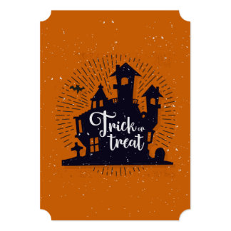 Halloween Trick Or Treat House | Invitation