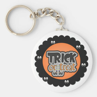 Halloween trick or treat key chain