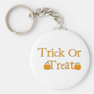 Halloween trick or treat keychain