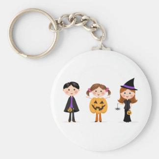 Halloween trick or treat kids keychain