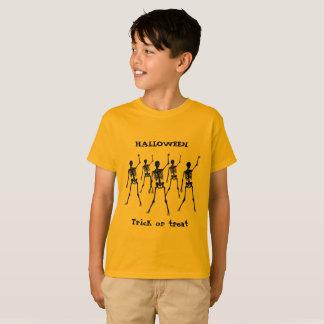 Halloween trick or treat on orange T-Shirt