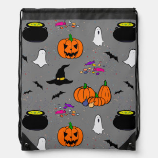 Halloween Trick or Treat Drawstring Backpacks