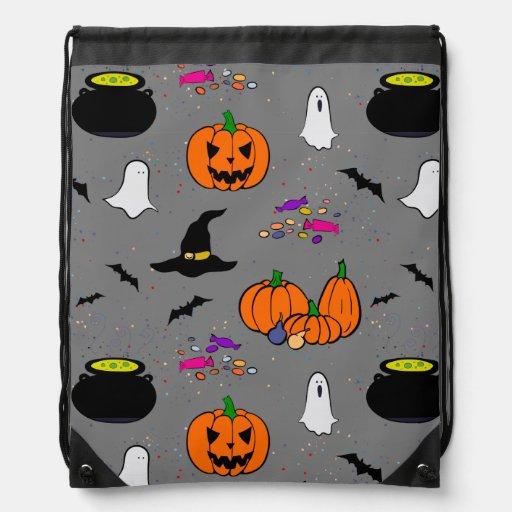 Halloween Trick or Treat Drawstring Backpacks