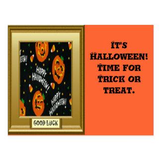 Halloween, Trick or treat Postcard