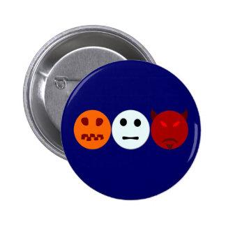 Halloween trick or treat pumpkin ghost devil buttons