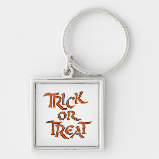 Halloween Trick or Treat Words Key Chains