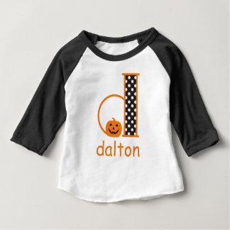 Halloween TShirt w Pumpkin Monogram Initial d