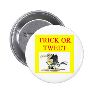 halloween twitter tweet joke 6 cm round badge