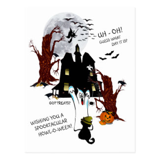 Halloween - Uh Oh Guess What Day It Is Postcard