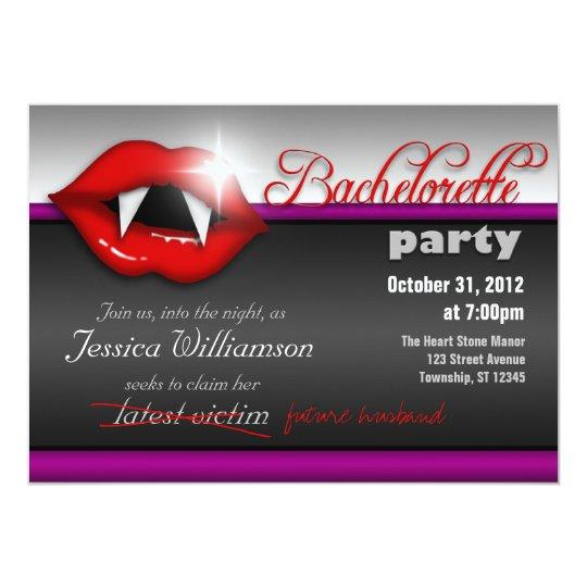 Halloween Vampire Bachelorette Party Invitations