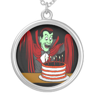 Halloween Vampire Birthday Gift Silver Plated Necklace