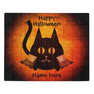 Halloween vampire cat jigsaw puzzle