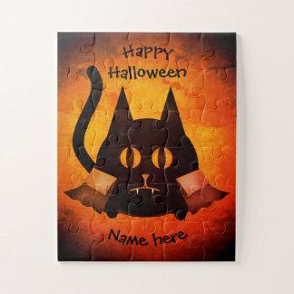 Halloween vampire cat name jigsaw puzzle