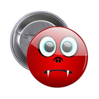 Halloween Vampire Face Button