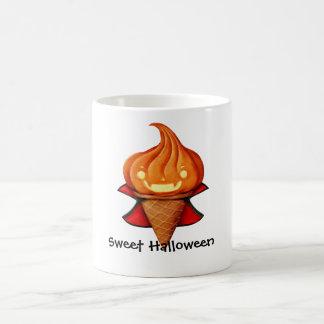 Halloween Vampire Pumpkin Ice Cream Coffee Mug