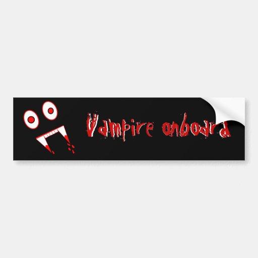 Halloween Vampire teeth Bumper Stickers