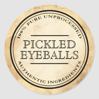 Halloween vintage apothecary pickled eyeball label