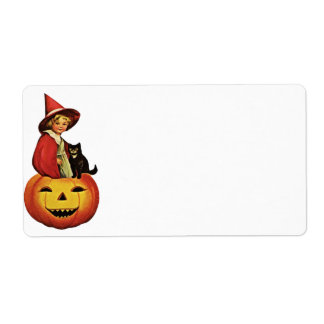 Halloween Vintage Label Shipping Label