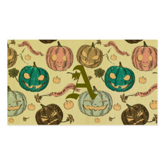 Halloween,vintage,pattern,pumking,cute,scary,fun,t Pack Of Standard Business Cards