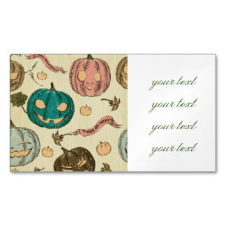 Halloween,vintage,pattern,pumking,cute,scary,fun,t Magnetic Business Cards
