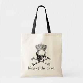 Halloween vintage skull & crossbones king dead canvas bags